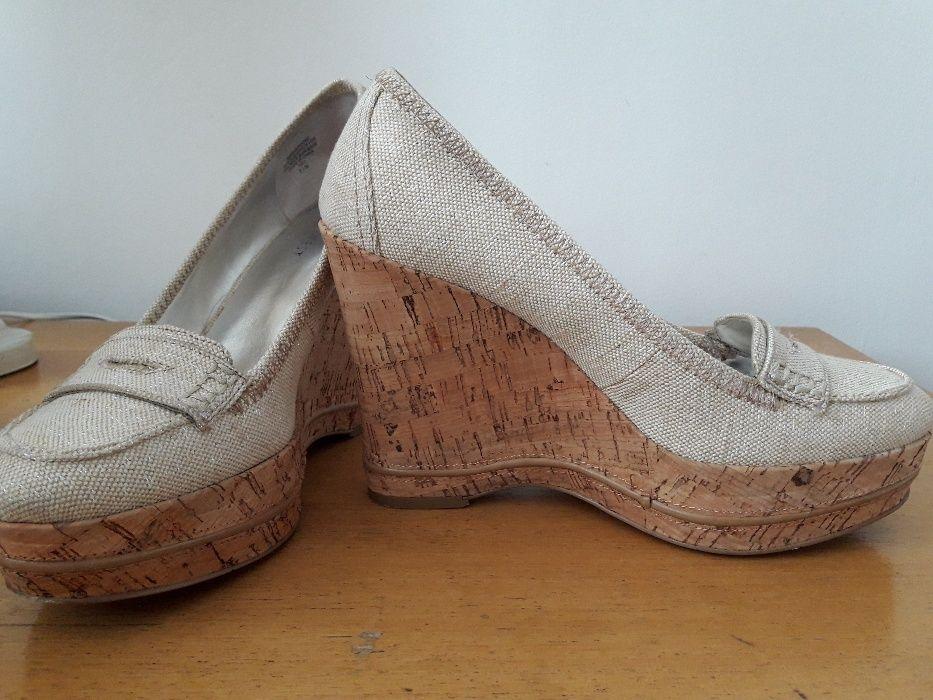 Нови обувки с Висока коркова платформа, 39 номер