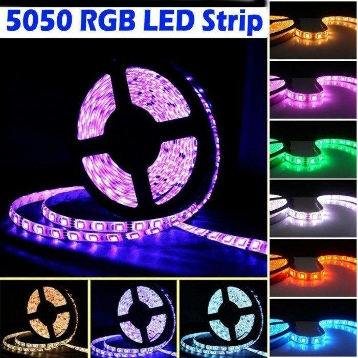 Banda rola LED 300 - LEDURI SMD 5050 RGB - 5 metri telecomanda