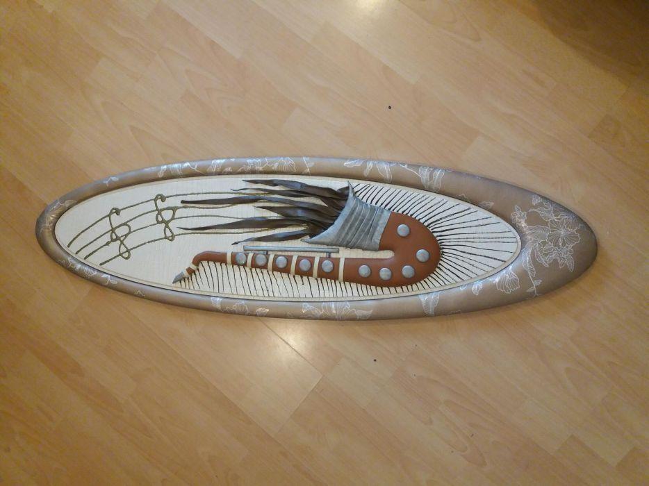 Tablou si Canvas ( 3D ), lemn, si desenul este din piele artificiala
