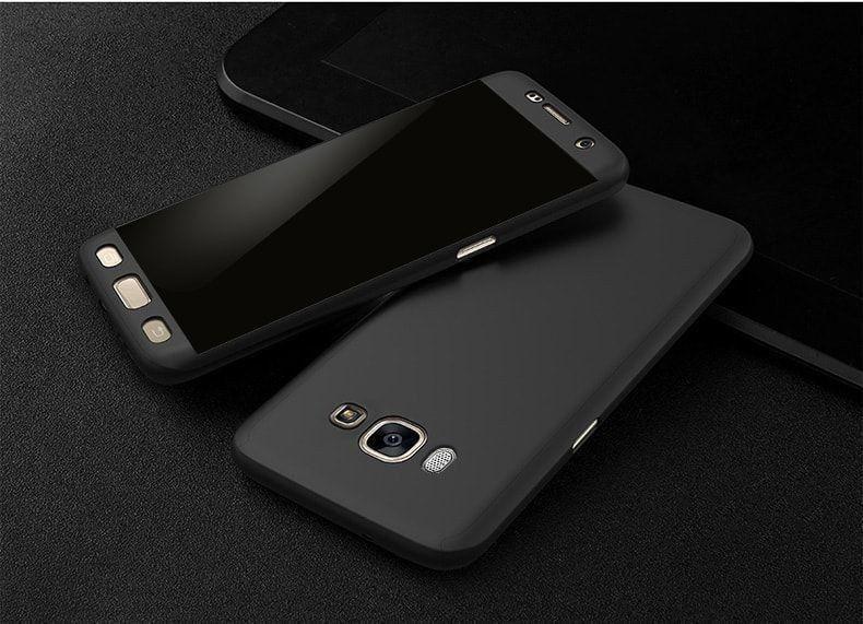 Husa Samsung J3 2017 360º NEAGRA FULL cu folie de protectie inclusa