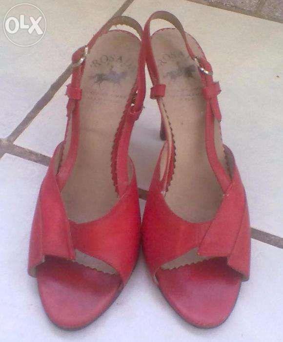 Sandale rosii piele naturala