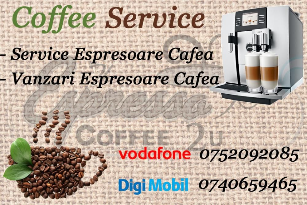 Service,Vanzari, espresoare cafea mures Saeco, Jura,DeLonghi,Krups etc