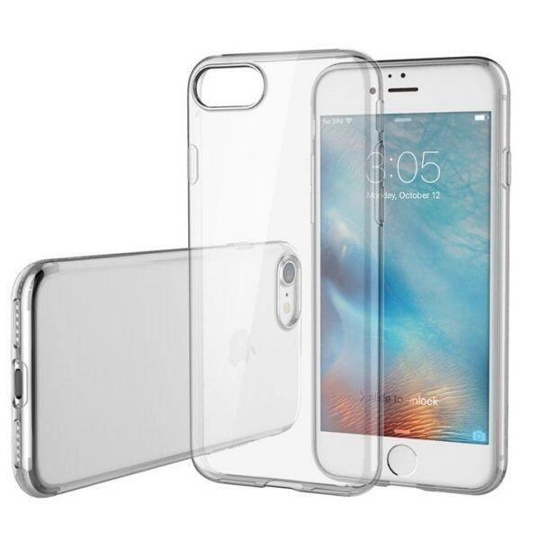 Silicone case transparente para o seu iPhone 5s 6 7 8 até 10