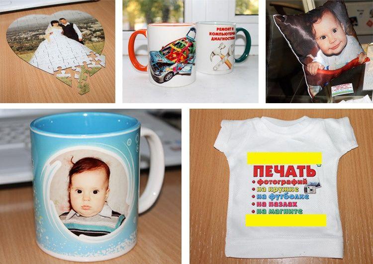 Печать на футболках, кружках, чехлах для соток и многое другое