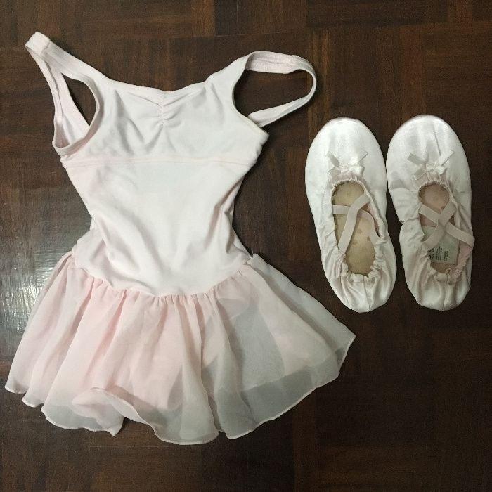 Fato de ballet e sapatilha ballet novo( sem uso) aproveite