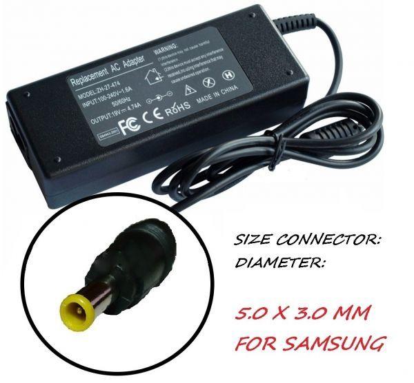 Зарядно за лаптоп 220V-90W/19V 5.0mm X 3.0mm Модел ZH-JDCC. За Samsung
