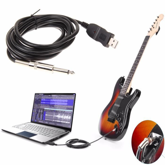 Cablu USB Chitara interfata audio Guitar 2