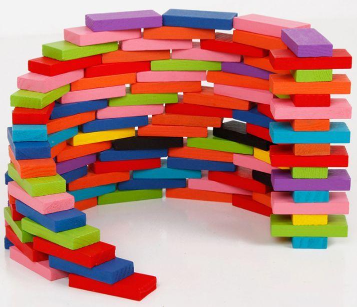 100бр. дървени блокчета домино за 8.99лв. / всички дървени играчки
