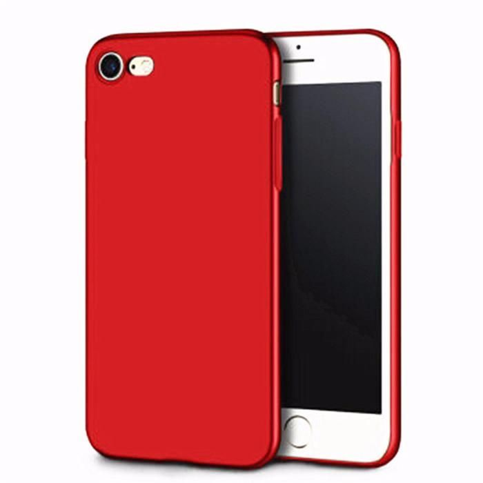Iphone 6 6s+ 7 7+ 8+ X XS 10 - Husa Silicon Ultra Subtire Red/Rosie