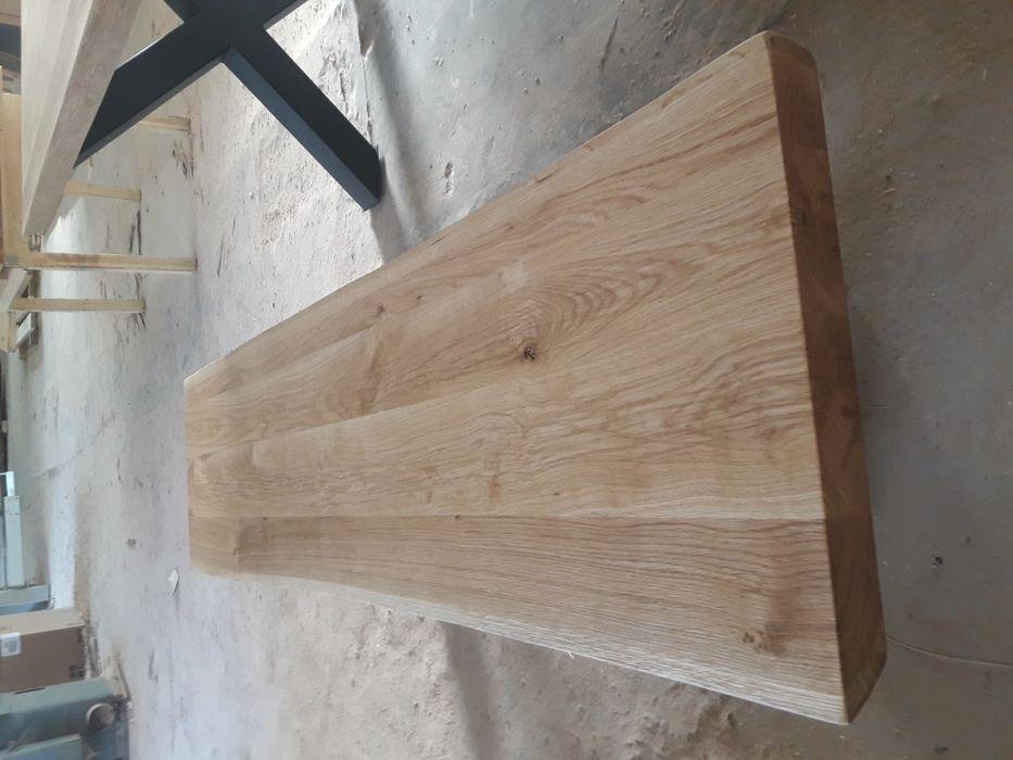 Дъбова пейка за трапезна маса