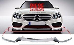 Ornamente cromate pentru bara model AMG Mercedes C Class W205