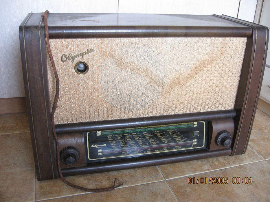 Ретро лампово радио модел Olympia 542 WM , 1954/55 г