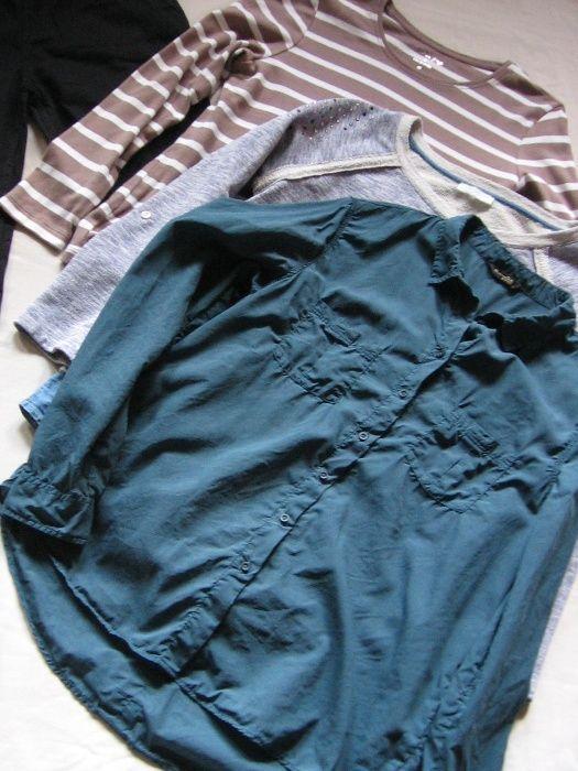 40/M camasa M Dutti +2 bluze Christian Berg & Promod+cardigan MOHITO