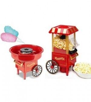 Set aparat popcorn si masina de facut vata de zahar
