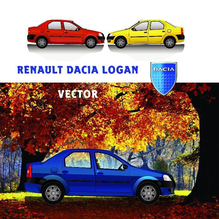 ilustratii vectoriale Dacia LOGAN altele