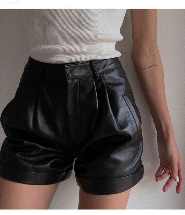 Новые кожаные шорты