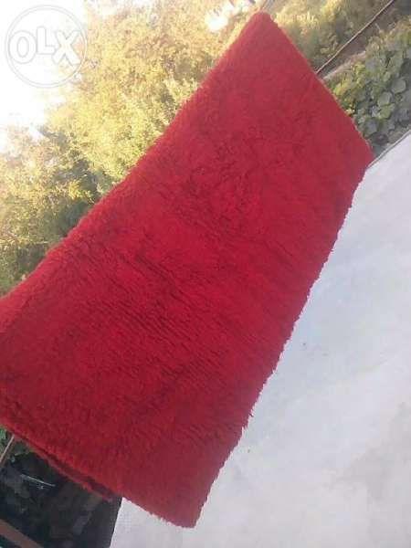 Червен китеник/губер за двойно легло
