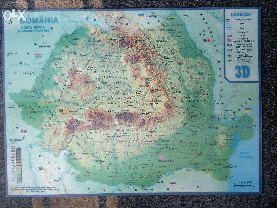 Harta Romaniei 3D