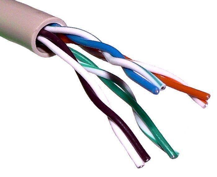 Кабель сетевой UTP 5e Cat. 305m. скорость передачи: 100 Мбит/сек. или