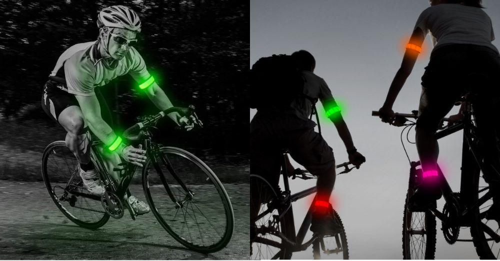 2 Bratari Luminoase LED - Semnalizare - Bicicleta, Bicla - jogging