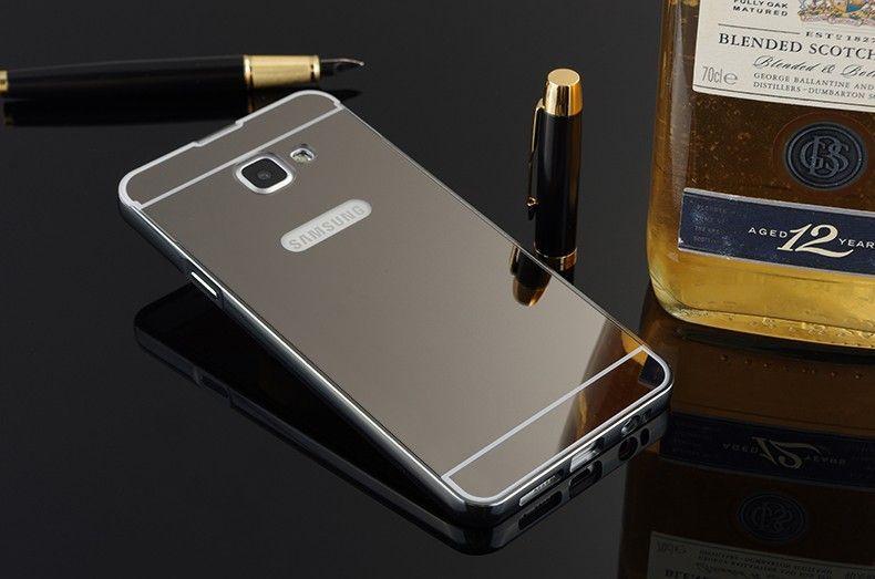 Огледален алуминиев бъмпер кейс за Samsung Galaxy A3, A3 2016, A300, A