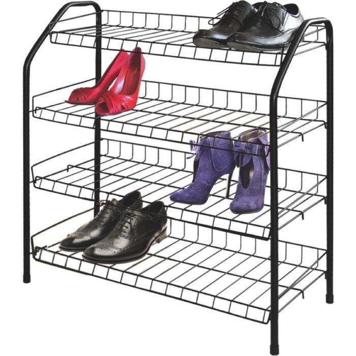 Этажерка - полка для обуви (обувница) 4 полки металл, Nika (Ника) ЭТ1