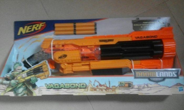 Set nou pusca mitraliera cu 6 gloante Nerf Vagabond Doomlands B3191,8+
