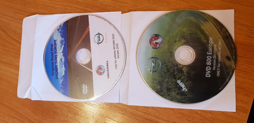 DVD 500 și 800 Opel 2018