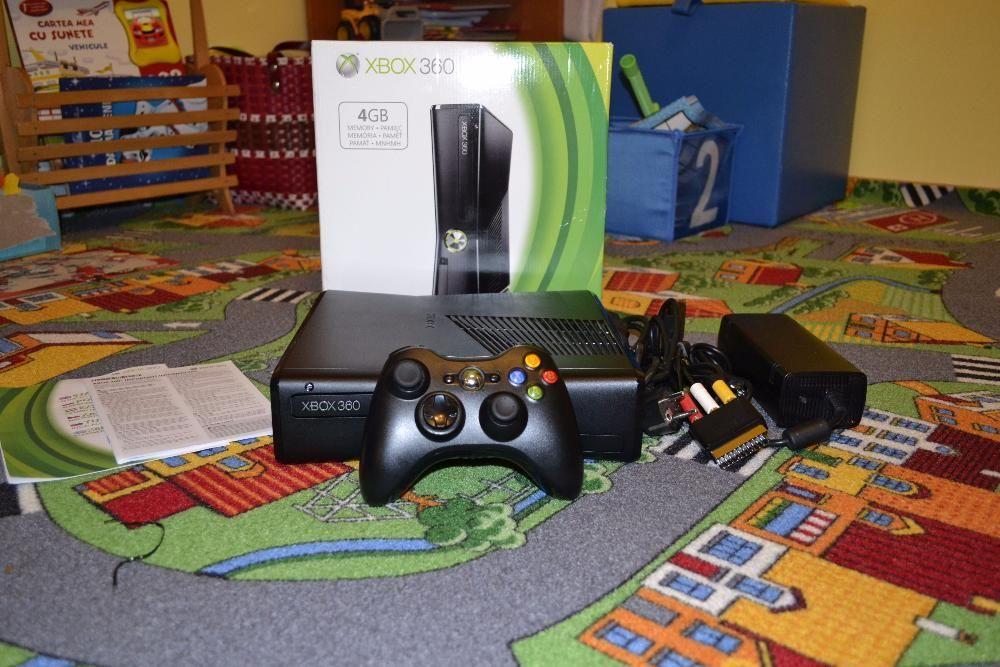 Xbox 360 Slim Modat RGH 2, 40 jocuri: GTA V, Fifa 18, Minecraft etc