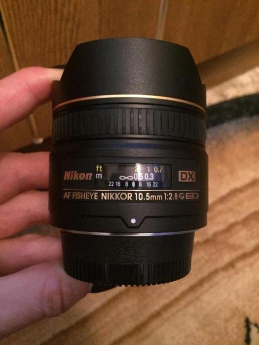 Объектив nikon AF DX nikkor-fisheye 10.5mm f/2.8G