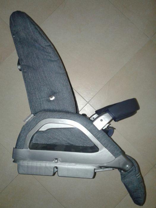 Baza carucior sport Inglesina Blue Jeans, spatar reglabil, bara, gri