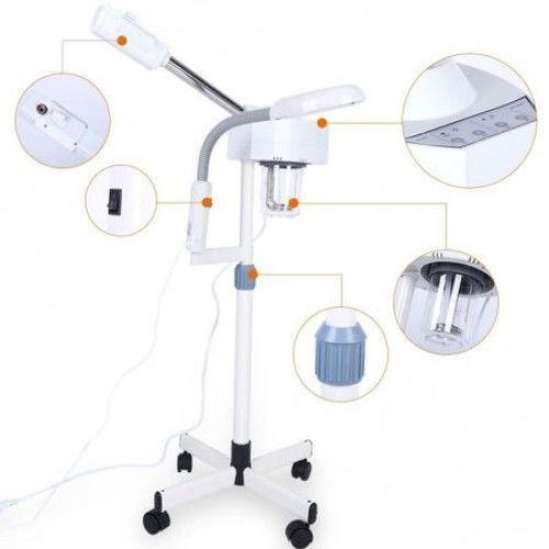 Vapozon cu Lampa Cosmetica LED si Lupa - Combina Cosmetica
