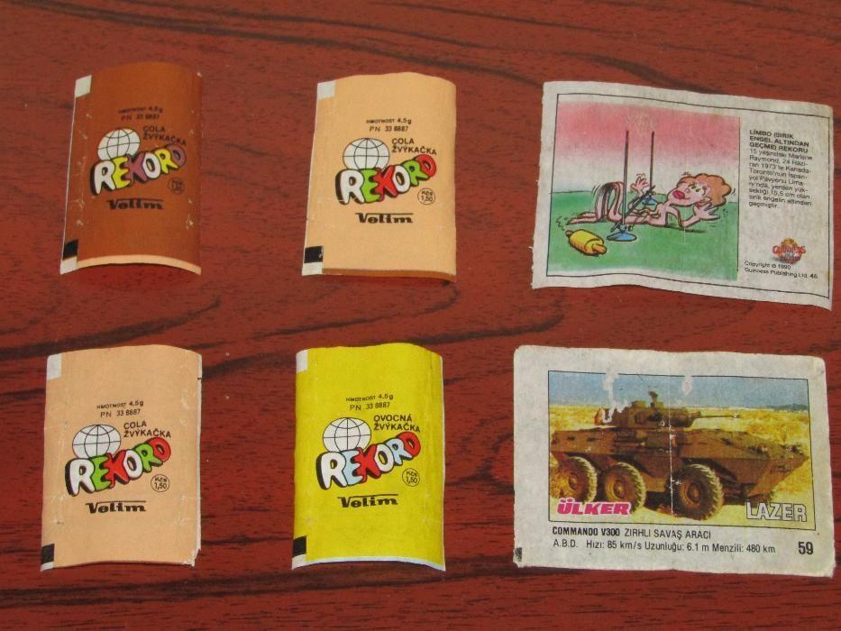 Картинки и опаковки от дъвки и други