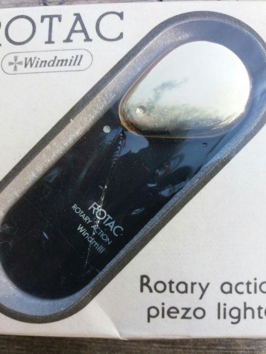 Нова ретро запалка Windmill Rotac Rotary Action Piezo Lighter Япония