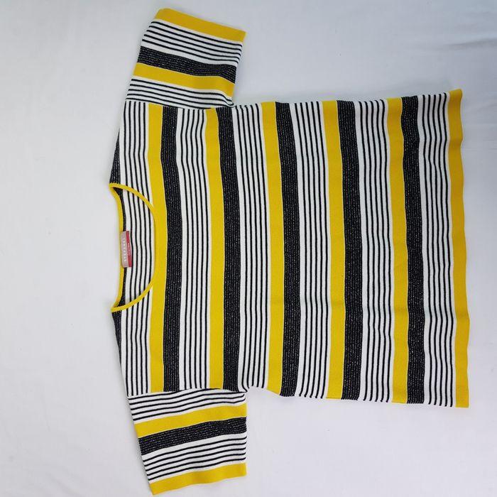 Tricou dama Stefanel collectible marimea S oversized dungi bumbac i17