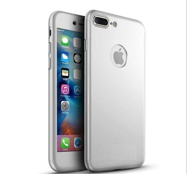 Husa 360 Plastic Fata Spate si Folie Sticla - Iphone 7 7 Plus 8 8 Plus