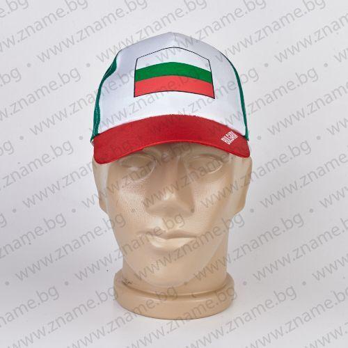 Трикольорна шапка с козирка с българско знаме и надпис България