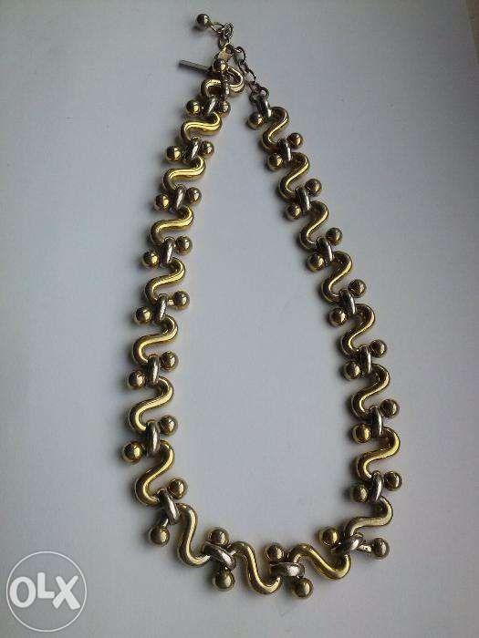 colier ''LERITZ'' suflat cu aur alb si aur galben