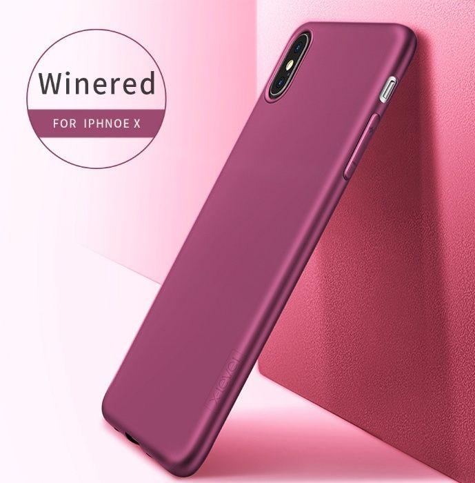 iPhone X XS 10 XS MAX - Husa X LEVEL Slim Silicon Rosie Neagra Mov Gol