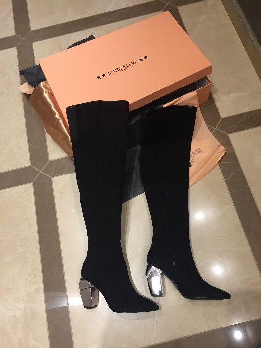 Уникални чизми- 100% велур ; обувки на висок ток Casadei , Baldinini,