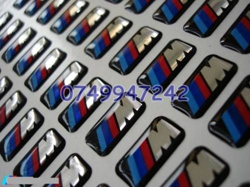 Sticker/logo BMW ///M siliconata 3D 2 modele