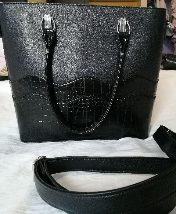 Дамска черна чанта