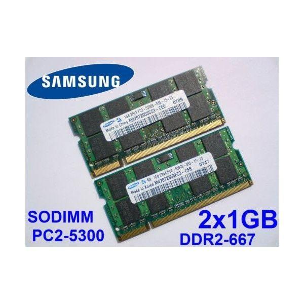 memorie laptop-ram 2gb ddr2(kit 2*1gb) samsung pc2-5300 sh