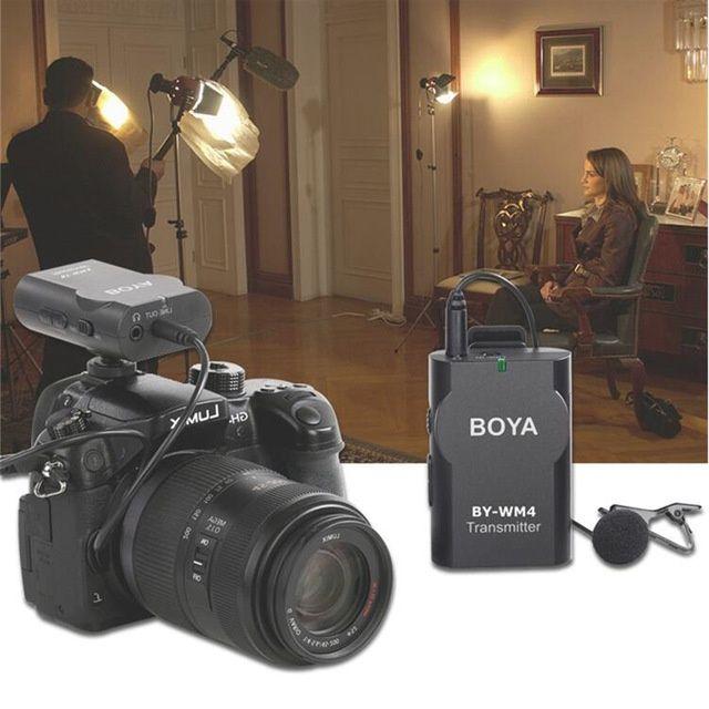 Lavaliera BOYA BY-WM4 Wireless, pt. telefon smart, vlogger, reporter