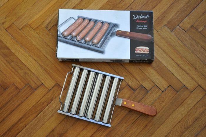 Aparat prajit hotdog,carnati pe grill