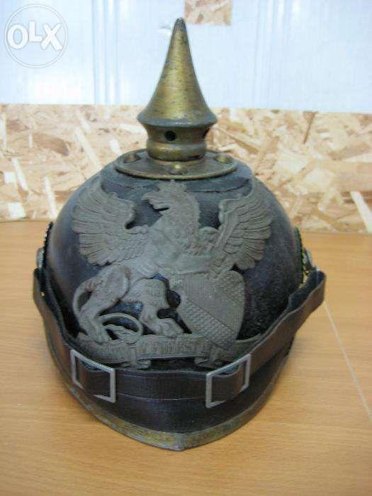 ПИКЕЛЬХЕЛЬМ(немецкий шлем)кокарда земля БАДЕН. Оригинал