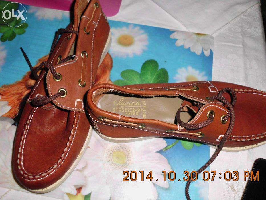 Pantofi maro piele naturala 23