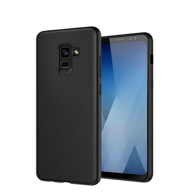 Samsung A6 A6+ A8 A8+ 2018 - Husa Subtire 0.3mm Din Silicon Neagra
