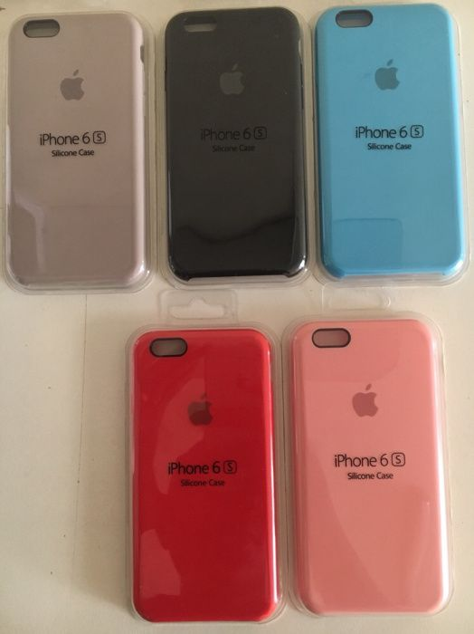 Capas de silicone para iPhones
