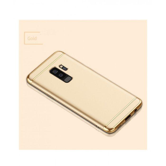 Husa Elegance Luxury 3 in 1 pentru Samsung S9 Plus Gold